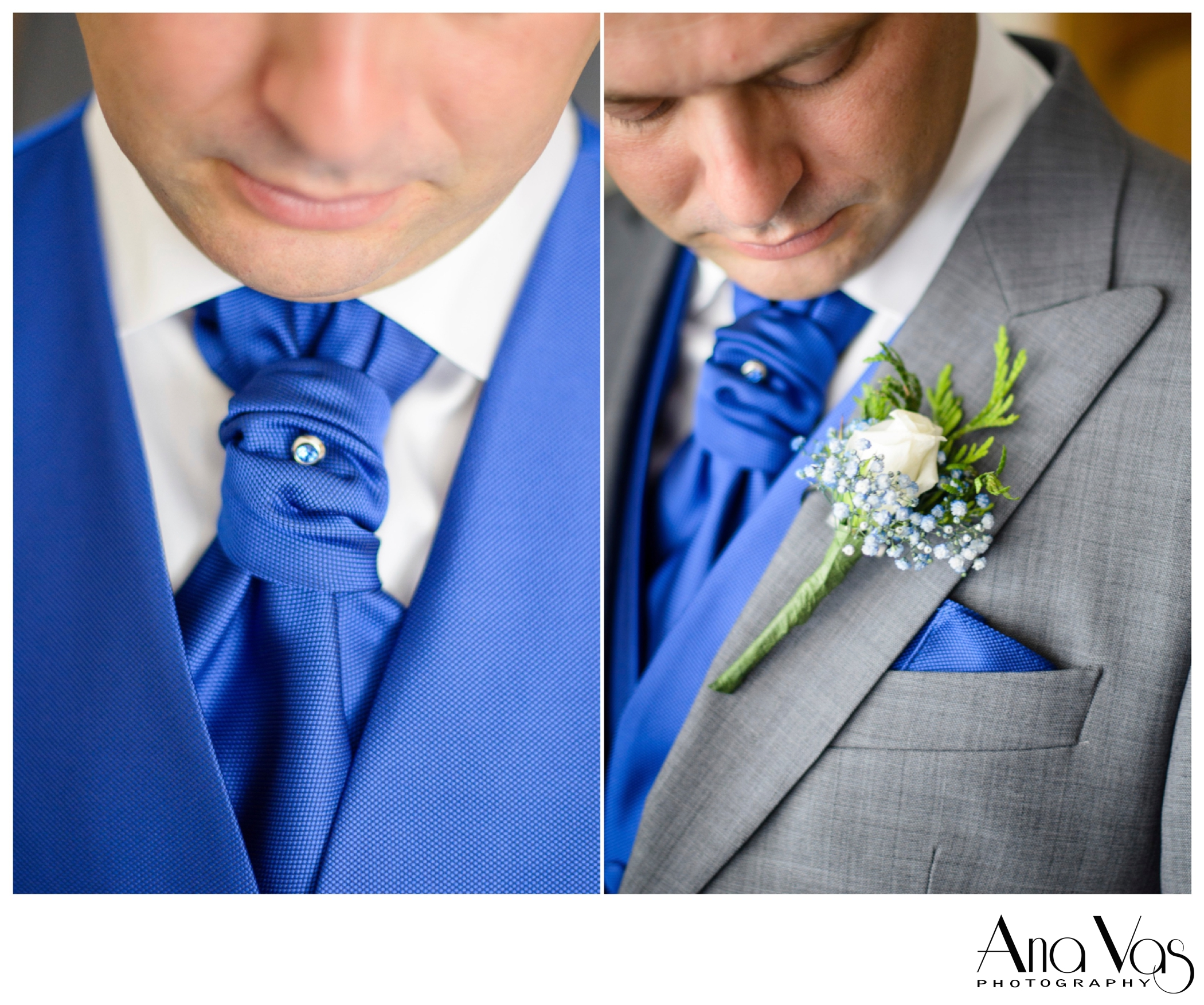 Groom's Tie Pin and Button-hole